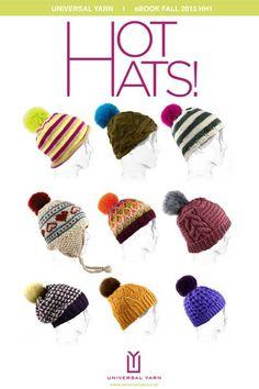 Free Universal Yarn Pattern : Hot Hats E-Book