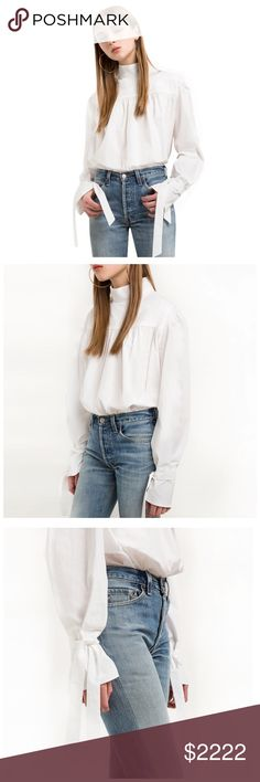 ‼️COMING SOON White High Neck Tie Sleeve Top ‼️‼️ PLEASE LIKE THIS LISTING TO BE NOTIFIED WHEN THIS ITEM IS LISTED ‼️‼️ Tops