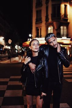 night out...black mini skirt + navy sweater or top + black fringe leather jacket + hair back, middle part + single silver earring