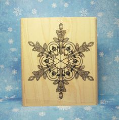 Irish Claddagh Heart Snowflake Rubber Stamp Celtic by Triskelt