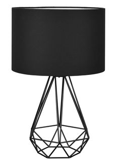 Geometric table lamp black kmart 15 liked on polyvore diamond shaped wire table lamp greentooth Choice Image