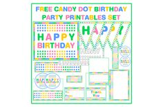 free candy dot printables