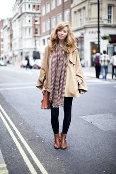 cute #cape #camel #fashion #style #scarf #fall #brown #booties #tights #satchel