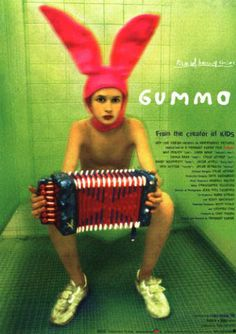 Gummo is a 1997 avant-garde independent film by Harmony Korine, who would later go on to direct films like Julien Donkey-Boy, Mister Lonely and Trash Humpers, and was heavily advertised for his past work as the writer of Kids. It is set in the … Best Movie Posters, Cinema Posters, Cool Posters, New Line Cinema, I Love Cinema, Great Films, Good Movies, Harmony Korine, Movie Screenshots