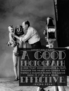Photography quote of the day #photography #quote #irvingpenn