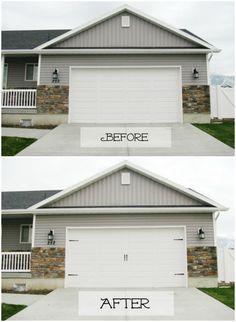 Update your Garage for Under $10. Curb Appeal Hacks and Tips - Frugal Home Ideas to Increase Your Home Value. Update the appearance for your home for little expense on Frugal Coupon Living.