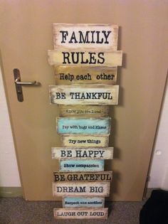 Shabby shic.. Family rules Family Rules, Helping Others, Compassion, Knowing You, Shabby, Thankful, Homemade, Home Made, Hand Made