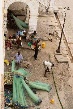 Repairing the Nets. Ghana