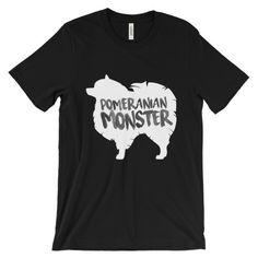 Pomeranian Monster Blackout Edition - Unisex Tee
