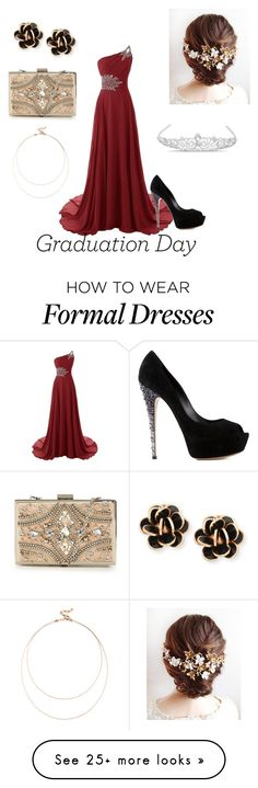 """""""Formal Grad"""" by xxchloejanexx on Polyvore featuring Casadei, Chantecler, Jon Richard, Forever Unique and Sole Society"""