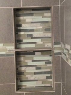 HousePro offers a variety of tiles to create the style you want in your bathroom or kitchen remodeling project. See some of our work in the tile gallery. Recessed Shelves, Shower Shelves, Decorative Borders, Tile Installation, Kitchen And Bath, Exterior Design, Home Projects, Living Room Designs, Kitchen Remodel
