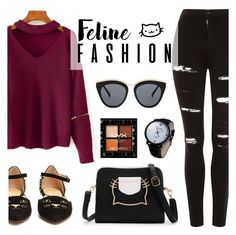 The Cat's Meow: Feline Fashion Le Specs, Charlotte Olympia, Modern Jewelry, Discovery, Fashion Accessories, Topshop, Cats, Polyvore, Image