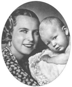 Queen Marie-Jose and her son Vittorio-Emanuele