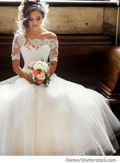 Bride in elegant wedding dress for Russian weddings The post Bride in elegant wedding dress for russian wedding appeared first on Garden ideas - Wedding Gown Princess Wedding Dresses, Elegant Wedding Dress, Tulle Wedding, Dream Wedding Dresses, Bridal Dresses, Lace Sleeve Wedding Dress, Illusion Neckline Wedding Dress, A Line Wedding Dress With Sleeves, Gown Wedding