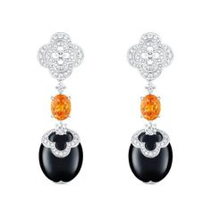 Louis Vuitton Blossom High Jewellery collection:  onyx, diamond and fireopals