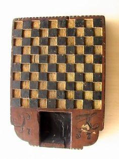 Online veilinghuis Catawiki: Houten dambord met initialen P.K. - Noordwest-Drenthe, Nederland - gedateerd 1757