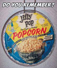 Jiffy Pop popcorn 1970s Childhood, Childhood Days, Retro Recipes, Vintage Recipes, 70s Food, Retro Food, Vintage Food, School Memories, Oldies But Goodies