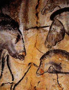 Peinture rupestre de la grotte Chauvet - Paléolithique