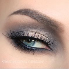 anastasiabeverlyhills eye makeup cream color liner in jet and Kat Von D spellbinding palette. Fall grays and neutrals eyes