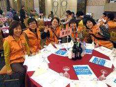 前夜祭の国際親交の夕べでは、「倉吉市」のテーブルが用意されていました。