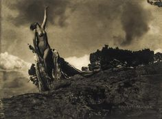 Anne Brigman American), The Soul of the Blasted Pine, Vintage gelatin silver print, 7 x 9 in. Edward Steichen, Contemporary Photographers, Female Photographers, Fine Art Photo, Photo Art, Gelatin Silver Print, Les Oeuvres, Art Museum, Art Photography