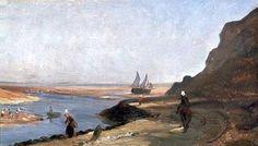 L'estuaire à Trouville par Paul Huet