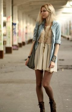 love the lace top layering
