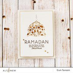 Altenew Ramdan Greetingd stamp set + Mosaic Dome die set, card by Erum Tasneem - @pr0digy0