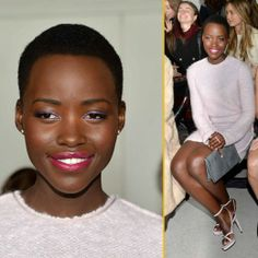 Black Beauty Lupita Nyong'o attends the Calvin Klein Collection fashion show during Mercedes-Benz Fashion Week Fall 2014 at Spring Studios in New York City.