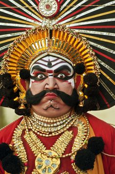 Yakshagana  Bhima the Mighty must not only be grand and awe inspiring but must look so in person too.  From the Indian epic Mahabharata