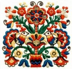 Popular Embroidery Designs Hungarian embroidery/f. Hungarian Embroidery, Folk Embroidery, Types Of Embroidery, Brazilian Embroidery, Learn Embroidery, Embroidery Jewelry, Chain Stitch Embroidery, Embroidery Stitches, Embroidery Patterns