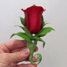 Learn how to make boutonnieres and matching corsages. Buy wholesale flowers and professional florist supplies Red Rose Boutonniere, Boutonnieres, Diy Wedding Flowers, Floral Wedding, Wedding Ideas, Florist Supplies, Bride Bouquets, Flower Bouquets, Winter Flowers