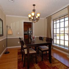 two tone dining room with chair rail light color abovedark color below kitchen ideas pinterest two tones light colors and interior painting - Dining Room Color Ideas With Chair Rail