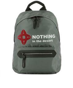 LANVIN Lanvin Men's  Grey Polyamide Backpack. #lanvin #bags #backpacks #