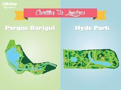 Curitiba possui 26 parques, e o Barigui foi escolhido para representar todos eles. Curitiba tem 81 milhões de metros quadrados de área verde, resultando em 55m² de área por habitante! Este número é três vezes superior ao índice recomendado pela Organização Mundial da Saúde, de 16m². E você, o que acha dos nossos parques?
