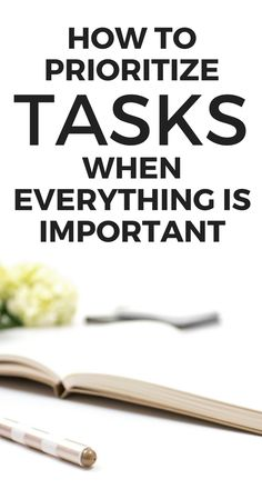 How to Prioritize Tasks (When Everything is Important) - Starting to feel like your to-do list is getting way too full? In this post I'm sharing the tips you NEED to teach you how to prioritize tasks when everything seems super urgent. | Planning, Organizing, Productivity #planning #organizing #productivity
