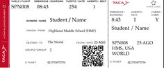Make an airline ticket with your students name and class information on it! Use these fake airline tickets to get your students excited about traveling.
