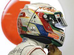 Lewis Hamilton sports a new helmet design   Formula 1 photos   ESPN F1