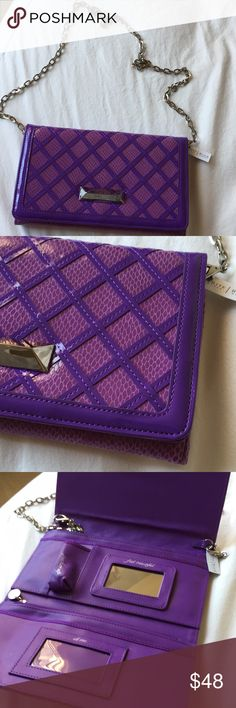 NWT Clutch / Wallet on a Chain Gorgeous little handbag with lots of pockets for the essentials. New with tags, never used, no defects. Would make a super cute gift! White House Black Market Bags Clutches & Wristlets