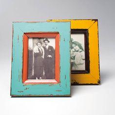 set of two coloured frames by i love retro | notonthehighstreet.com