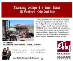 Charming Cottage & Guest House at Cedar Creek Lake| For Sale | Debbie Schwanbeck, Realtor at Ebby Halliday Realtors DebbieS@ebby.com