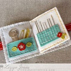 Don't Forget To Write: Quick Stitch: Sewing Staples Kit Needle Book Interior by Lizzie Jones for Papertrey Ink (February Needle Case, Needle Book, Sewing Hacks, Sewing Crafts, Sewing Kits, Sewing Tutorials, Sewing Ideas, Sewing Case, Diy Couture