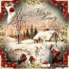 Mignon blottis porcs Romantique Noël personnalisées Carte