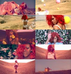 Only Girl in the World video. I love the styling in this whole video!!