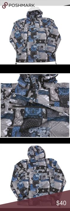 Men's Crooks and Castles  Anorak Paisley Jacket Crooks and Castles Anorak Paisley Jacket  Jacket in excellent pre-loved condition. Color: Bandana/Multi. 100%Polyester. Size XL. Long sleeve two side pockets and one front pocket.Lightweight Crooks and Castles Jackets & Coats Lightweight & Shirt Jackets