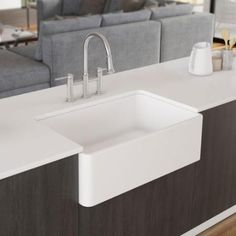 "Blanco Cerana II 33"" Single Bowl Farmhouse Apron Sink, White, 524259 - The Sink Boutique"