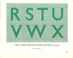 "https://flic.kr/p/79Znwa | British Railways - the Railway Executive - Standard Signs Manual, 1948 - ""Gill sans medium - R to X"" 