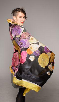 Wearable Art/ Floral Silk scarf/ Silk shawl-Falling от klaradar
