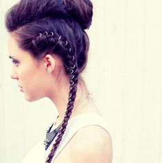 How about jewelry for your mane? Hair rings. They're a thing. | 15 Ways To Up Your Braid Game