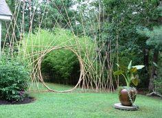 Bamboo Moon gate in my garden